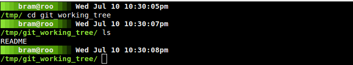 Screenshot of fade prompt on black