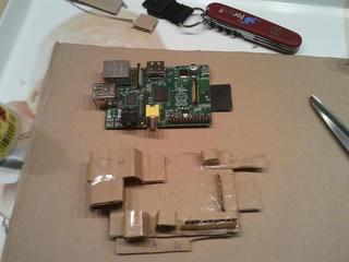 Cardboard raspberry pi replica