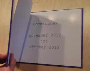 The commitbook (commitboek in Dutch) title page